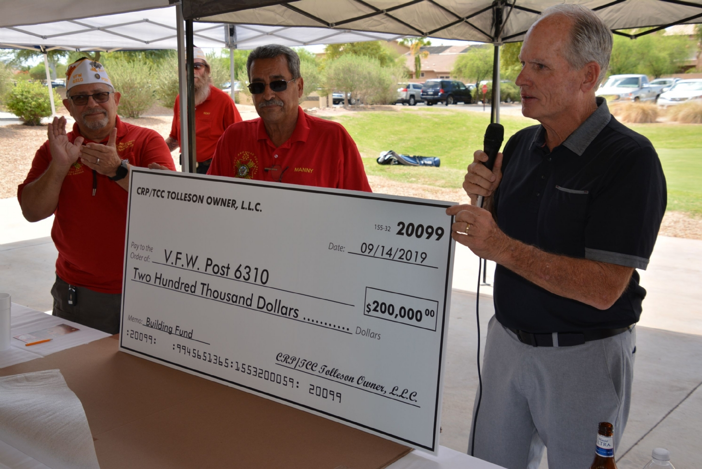 9/14/19 - TRAMMEL CROW DONATION TO BUILDING FUND