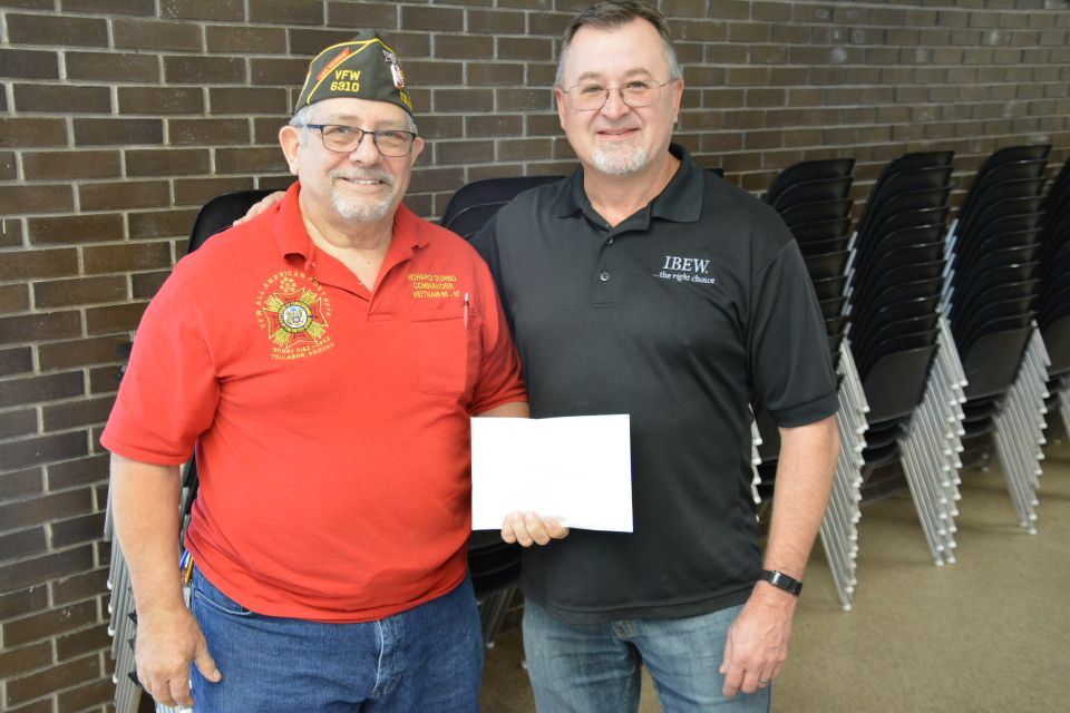 10/1/19 - INTERNATIONAL BROTHERHOOD OF ELECTRICAL WORKERS DONATION TO POST 6310