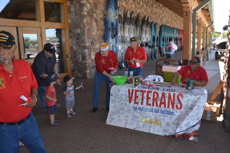 5/27/19 - POST BUDDY POPPY DRIVE AT CABELAS IN GLENDALE